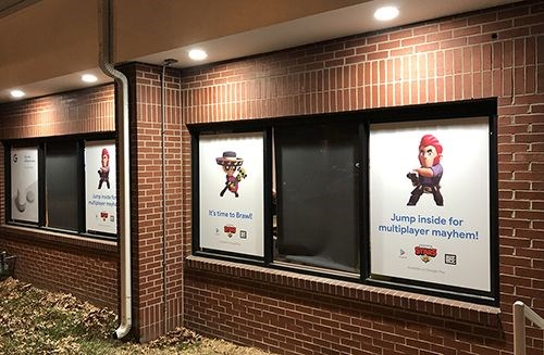 Full Color Exterior Window Clings for Google Fiber Space in Westport Kansas City, Missouri