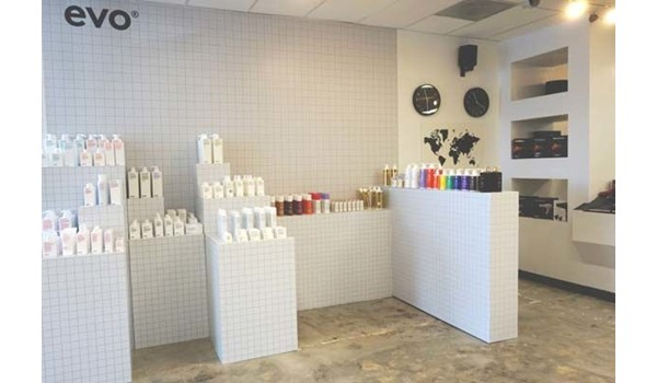 Tile Wall Graphic for Modern Salon Services in Kansas City, Missouri