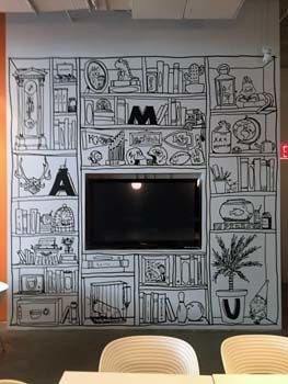 Interior Black Cut Vinyl Wall Graphic for Andrews McMeel Universal in Kansas City, Missouri