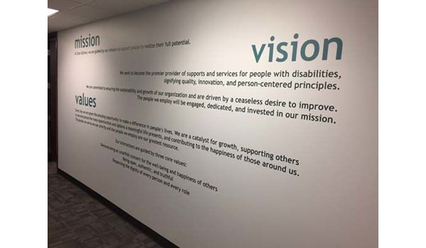 Wall Graphic for Open Options in Kansas City, Missouri