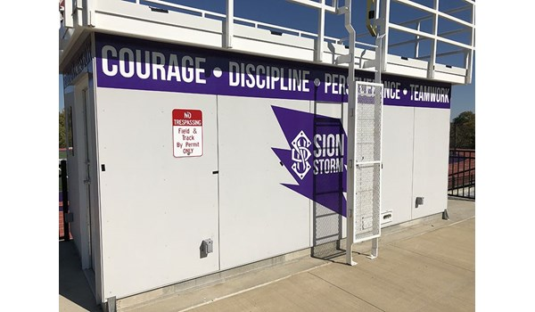 Exterior Building Wall Vinyl for Notre Dame De Sion in Kansas City, Missouri