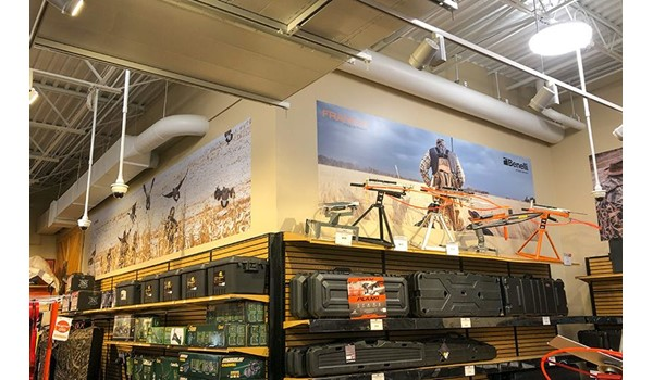 Interior Wall Graphics for SCHEELS in Overland Park, Kansas