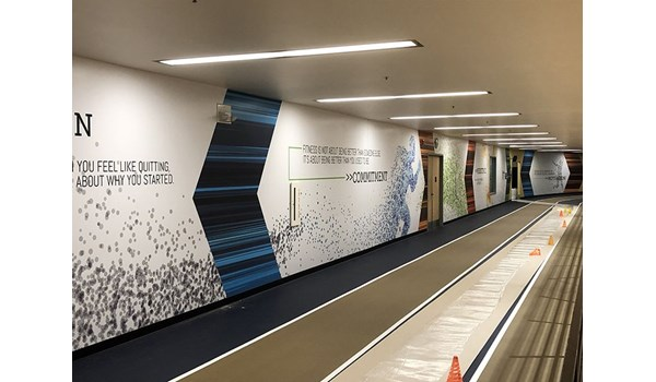 Track Wall Graphics for The Jewish Community Center of Greater Kansas City
