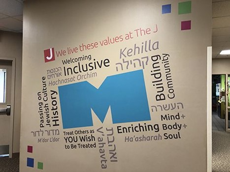 Interior Wall Graphics for The Jewish Community Center of Greater KC in Overland Park, Kansas