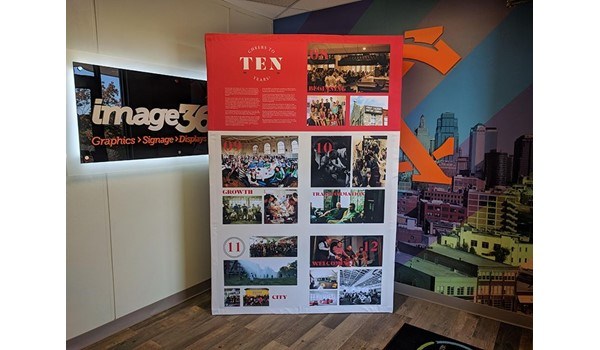 Tension Fabric Display for Redeemer Fellowship in Kansas City, Missouri