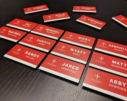 Staff Name Badges for Redeemer Fellowship in Kansas City, Missouri