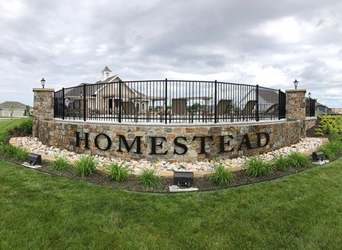 Exterior Black Anodized Aluminum Letters for the Homestead in Liberty, Missouri