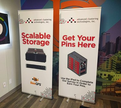 Retractable Banner Stands for Advanced Clustering Technologies in Kansas City, Missouri