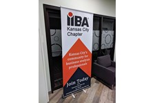 Retractable Banner Stand for IIBA Kansas City Chapter