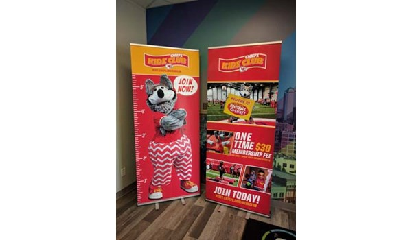 Retractable Banner Stands for the Kansas City Chiefs