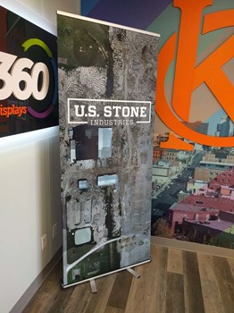 Retractable Banner Stand with Vinyl Graphic for US Stone Industries in Prairie Village, Kansas