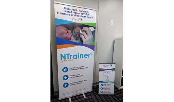 Retractable Banner Stand for Floor and Table for Innara Health in Olathe, Kansas