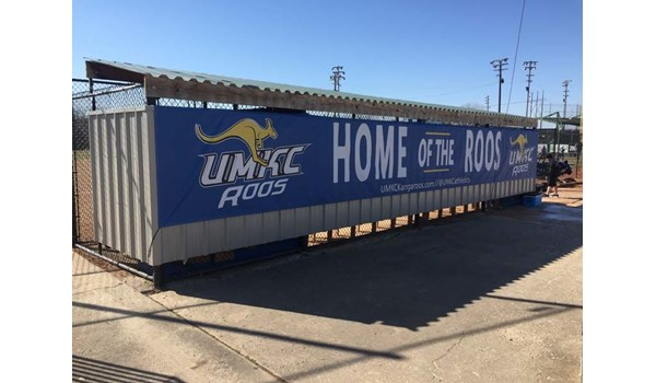 Vinyl Banner with Grommets for UMKC Athletic Department in Kansas City, Missouri