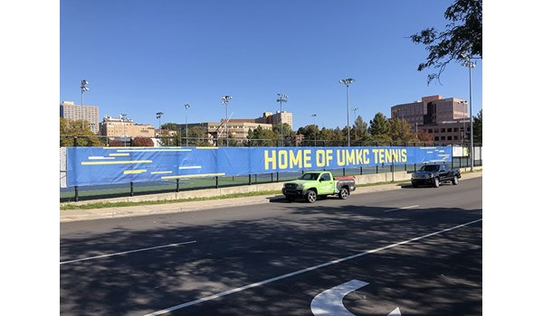Exterior Vinyl Banner for Plaza Tennis Center in Kansas City, Missouri