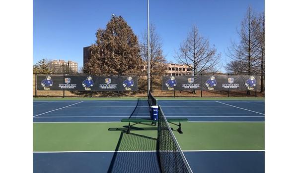 Outdoor Mesh Windscreen Banners for Rockhurst High School in Kansas City, Missouri