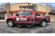 Cut Vinyl Truck Graphics for Wright Scapes in Lenexa, Kansas