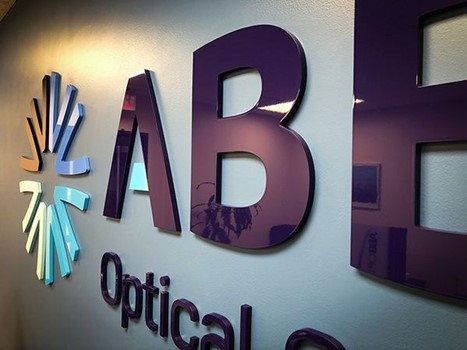 Interior Acrylic 3D Dimensional Sign for ABB Optical Group in Kansas City, Missouri