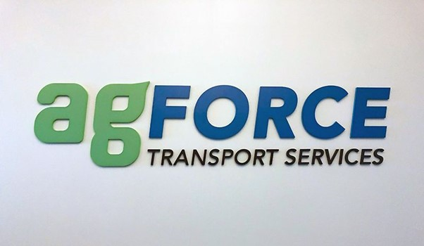 Custom Acrylic Dimensional Logo/Letters for AgForce Transport Services in Leawood, Kansas