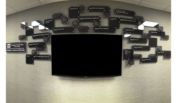 Interior Acrylic Custom 3D Display for Johnson County Bar Association in Overland Park, Kansas