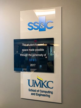Interior Acrylic 3D Dimensional Sign for University of Missouri-Kansas City