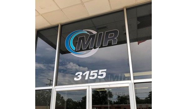 Exterior Cut Vinyl Graphic for Midwest Industrial Rubber in Kansas City, Missouri