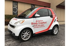Smartcar Graphics for Brady Crawford State Farm Agent in Kansas City, Missouri