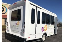 Shuttle Bus Graphics for Leawood Gardens in Leawood, Kansas