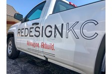 Vehicle Pickup Truck Vinyl Lettering for ReDesign KC in Kansas City, Missouri