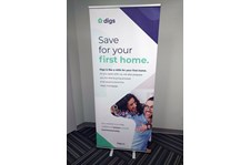 Retractable Banner Stand for Digs