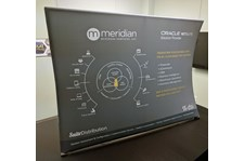 Tabletop Fabric Display for Meridian Business Services in Overland Park, Kansas