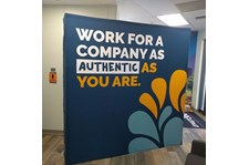 Tension Fabric Display for Spring Venture Group in Kansas City, Missouri