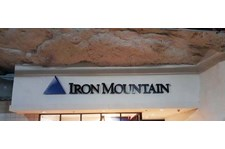 Halo-Lit Aluminum Dimensional Logo & Letters for Iron Mountain in Kansas City, Missouri