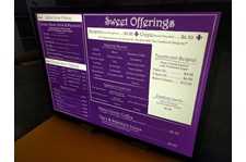 Iluminated Menu Boards for Beignet in Kansas City, Missouri