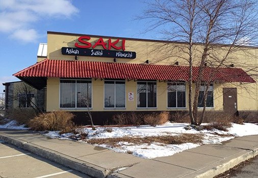 Exterior Illuminated Logo for Saki Asian Restaurant in Kansas City, MO