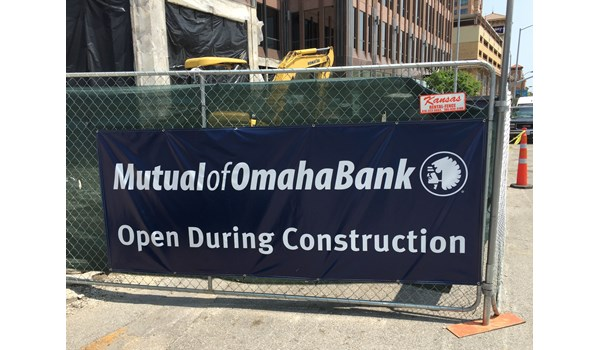 Vinyl Banner for Mutual Bank of Omaha in Kansas City, MO